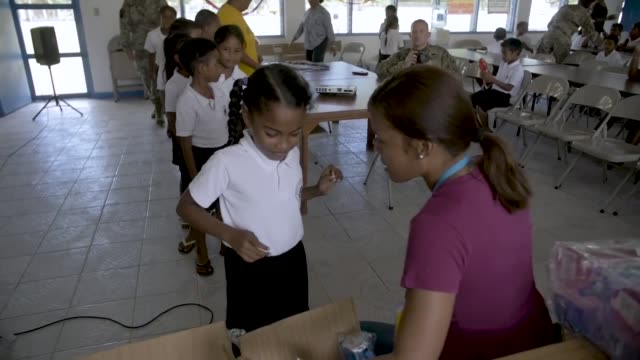 Palau's Ministry of Health work along side a US Army Medical Outreach Team in Peleliu Palau as part of Exercise Palau which includes several...