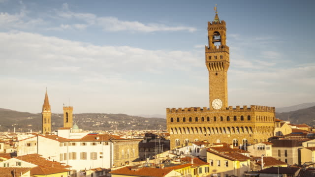 palazzo vecchio in florence, italy. - florence italy stock videos and b-roll footage