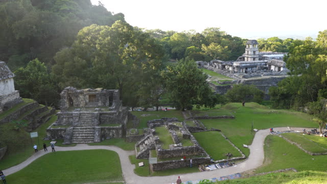 vídeos de stock e filmes b-roll de palenque, general view of the site - palenque
