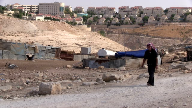 palestine, abu nwar bedouin camp around jerusalem, - palestine stock videos and b-roll footage
