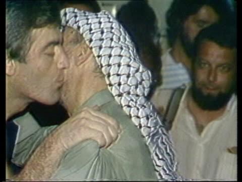 palestine liberation organisation backgrounder; palestine liberation organisation backgrounder; lebanon: beirut yasser arafat, plo leader,waving bye... - palestine liberation organisation stock videos & royalty-free footage