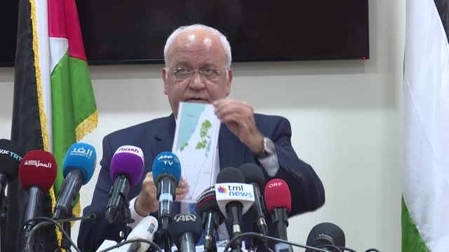 palestine liberation organisation secretary general and chief negotiator saeb erekat dies of coronavirus complications at the age of 65, the... - palestine liberation organisation stock videos & royalty-free footage