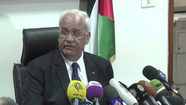 palestine liberation organisation secretary general saeb erekat denounced what he said were attempts on the behalf of this israeli government to bury... - palestine liberation organisation stock videos & royalty-free footage