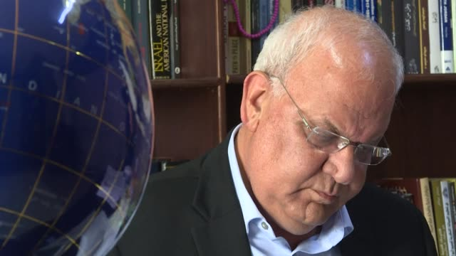 """palestine liberation organisation secretary-general saeb erekat condemns the formation of the new israeli government, saying """"partial or total... - palestine liberation organisation stock videos & royalty-free footage"""