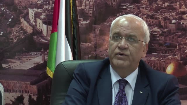palestine liberation organisation senior official saeb erekat hailed on tuesday the decision by greeces parliament to approve a resolution calling on... - palestine liberation organisation stock videos & royalty-free footage