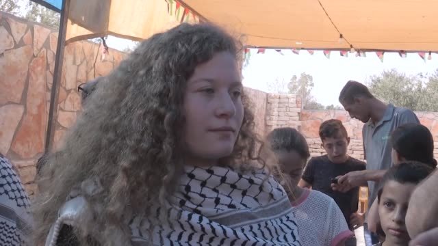 palestinian ahed tamimi speaks at an interview after her release from israeli prison in nabi saleh village near the west bank city of ramallah july... - media occupation stock videos & royalty-free footage