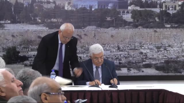 stockvideo's en b-roll-footage met palestinian authority president mahmoud abbas signed 20 international treaties including the rome statute of the international criminal court in... - bod