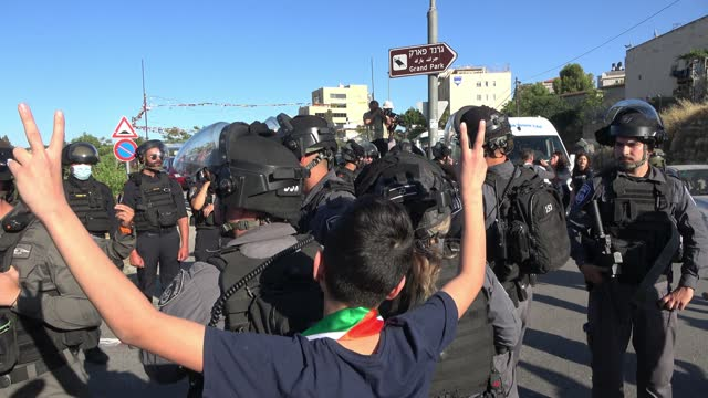 ISR: Clashes In East Jerusalem's Sheikh Jarrah