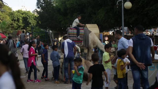 Palestinian celebrate Eid alAdha or the feast of sacrifice in Gaza city on September 3 2017 Muslims around the world are celebrating Eid alAdha the...