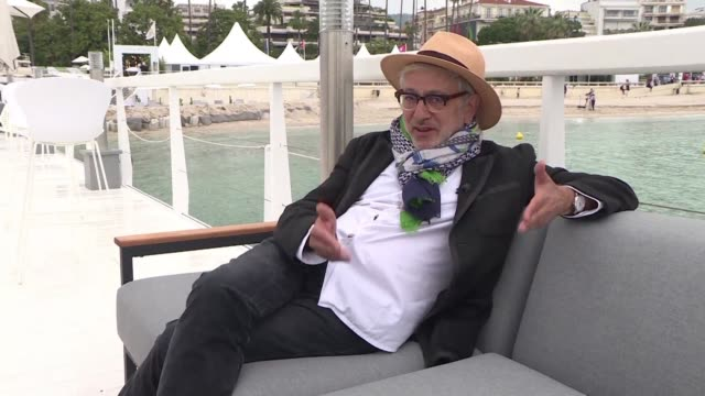 palestinian director elia suleiman discusses in cannes his in competition film it must be heaven - 72nd international cannes film festival stock videos and b-roll footage