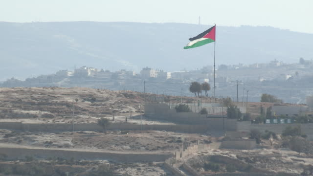 palestinian flag, bethlehem, palestine - palestinian territories stock videos and b-roll footage