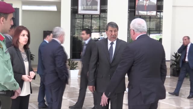 Palestinian Foreign Minister Riyad alMalki meets with Brazil's Foreign Minster Aloysio Nunes Ferreira in Ramallah West Bank on March 01 2018