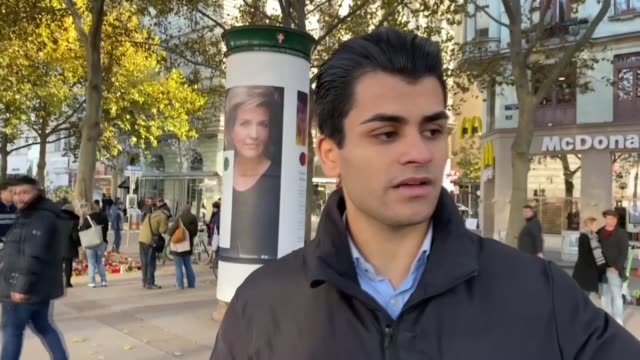 palestinian immigrant, who helped a wounded police officer during monday's terrorist attack in vienna, recalled the night of the rampage. osama joda... - wien stock-videos und b-roll-filmmaterial