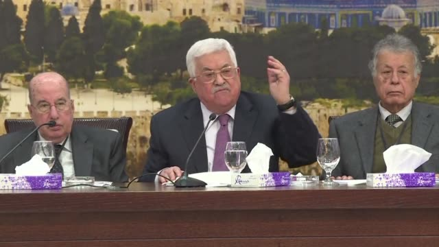 Palestinian leader Mahmud Abbas denounces US President Donald Trump's peace efforts as the slap of the century at a key meeting on the White House's...