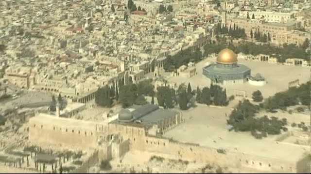 palestinian leaders dispute leaked israeli settlement documents israel jerusalem temple mount or haram alsharif in jerusalem the dome of the rock and... - dome stock videos & royalty-free footage