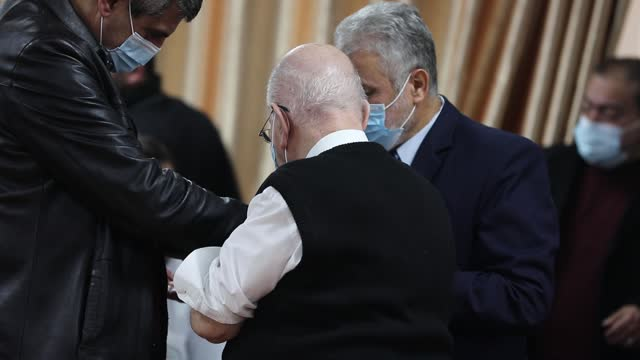 palestinian man receives a dose of the russian sputnik v coronavirus vaccine in gaza city, on february 22, 2021. around 20,000 coronavirus vaccine... - sputnik stock videos & royalty-free footage