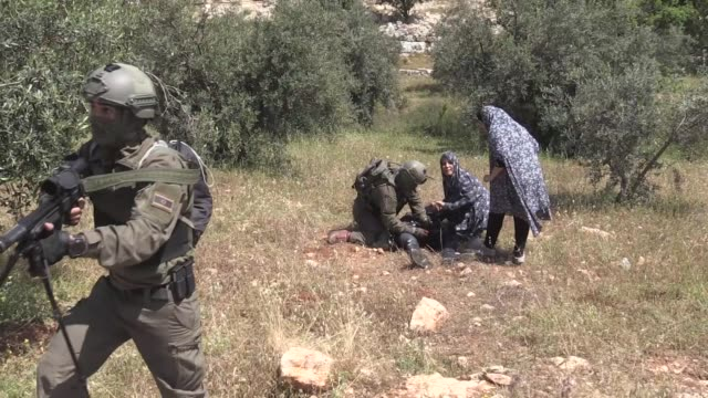 palestinian man was shot and injured by israeli troops in the southern west bank an anadolu agency correspondent based in the area reported thursday... - palestinian stock videos & royalty-free footage