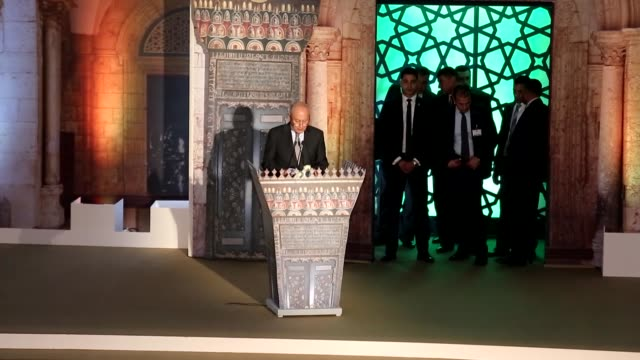 Palestinian President Mahmoud Abbas Grand Imam of AlAzhar Sheikh Ahmed elTayeb Egyptian Coptic Pope Tawadros II Pope of Alexandria and Patriarch of...