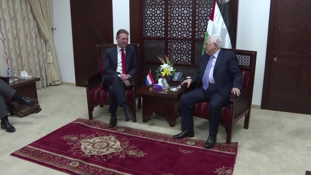 Palestinian president Mahmud Abbas met with Dutch Foreign Minister Halbe Zijlstra in the West Bank city of Ramallah Thursday