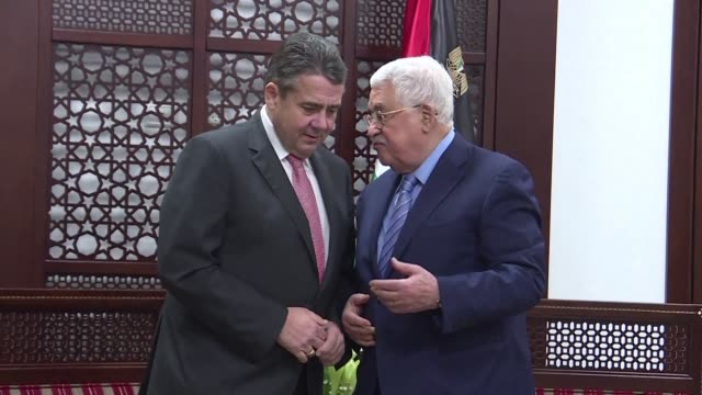 Palestinian president Mahmud Abbas met with German Foreign Minister Sigmar Gabriel Wednesday in the West Bank city of Ramallah in the Palestinian...