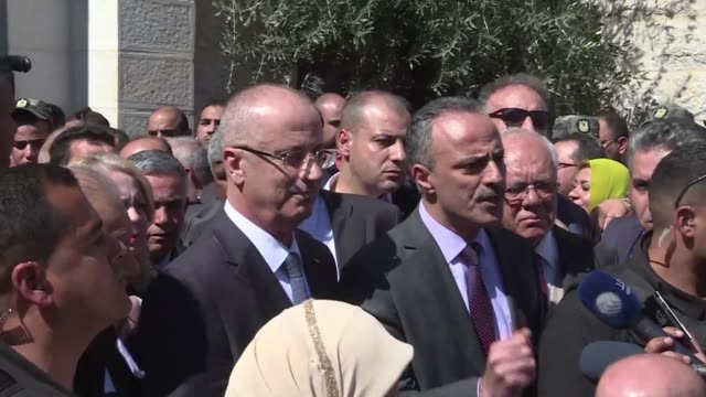 Palestinian prime minister Rami Hamdallah cut short a rare visit to Gaza on Tuesday after an explosion targeted his convoy a source in the delegation...