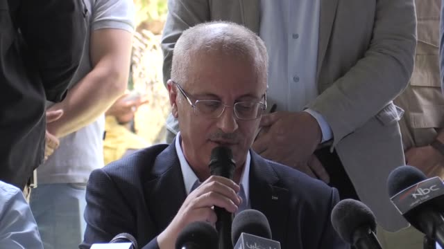 Palestinian Prime Minister Rami Hamdallah on July 14 2018 urged the international community to turn their statements of condemnation into actual...