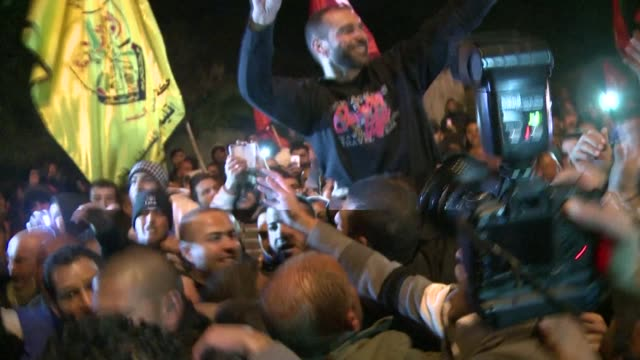 a palestinian prisoner held in israel since july 2012 who staged a life threatening hunger strike was released from prison on monday clean... - prisoner stock videos and b-roll footage
