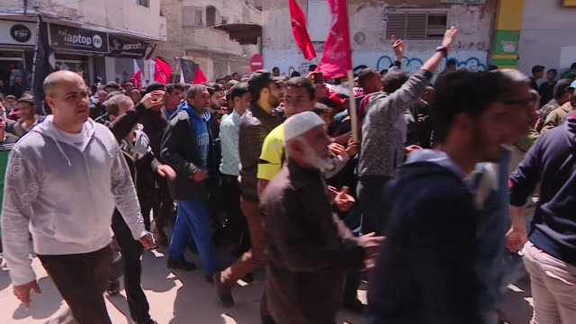 palestinian protesters marching through jerusalem - gaza strip stock videos & royalty-free footage