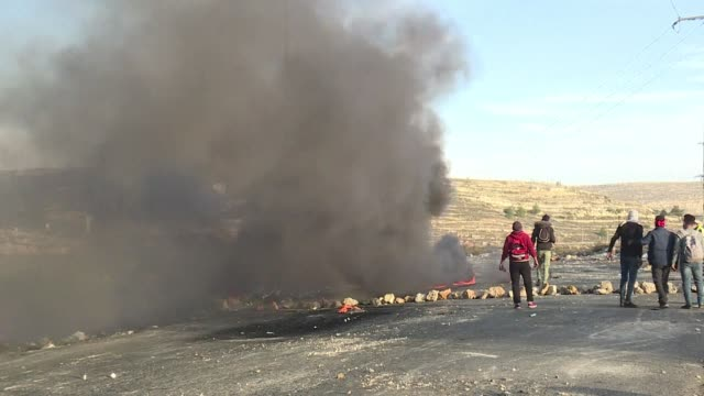 Palestinian protestors clashed with Israeli security forces at the DCO checkpoint near Ramallah in the West Bank on Monday over US President Donald...