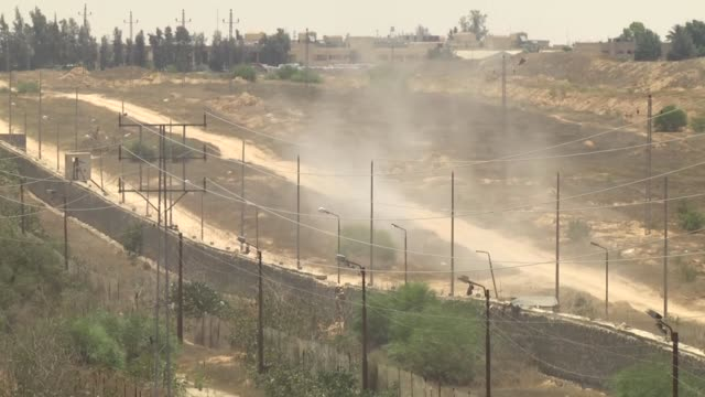 palestinian resistance group hamas is establishing a buffer zone along border between the gaza strip and egypt, according to the hamas-run interior... - gaza strip stock videos & royalty-free footage