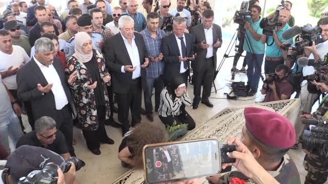 palestinian teenager ahed altamimi who was awarded the 'hanzala award for courage' in turkey and her mother nariman tamimi visit the mausoleum of... - mausoleum stock videos and b-roll footage