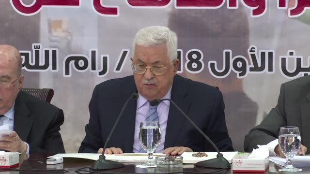 palestinians are facing the most dangerous stage in history according to palestinian president mahmud abbas who also vowed on sunday to oppose any... - palestine liberation organisation stock videos & royalty-free footage