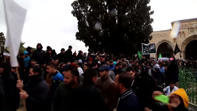 'jerusalem january 16 palestinians gather to protest against cartoons depicting islam's prophet muhammad by french satirical magazine charlie hebdo... - muhammad prophet stock videos & royalty-free footage