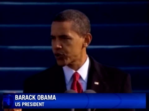 palestinians in the warbattered enclave of gaza watched the inauguration of barack obama with interest hoping that new leadership in washington will... - 2009 video stock e b–roll