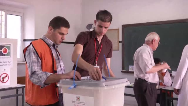 palestinians in the west bank cast ballots on saturday in local elections for their first vote since 2006 general elections in a step boycotted by... - palestinian stock videos & royalty-free footage