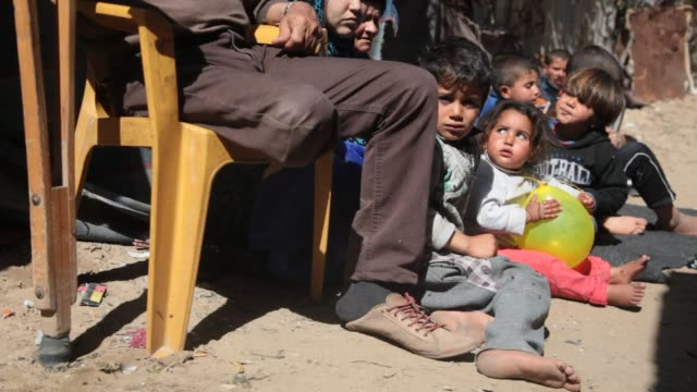 Palestinians living in a poor slum areas suffering a lack of shelter in Gaza Palestine on March 16 2017