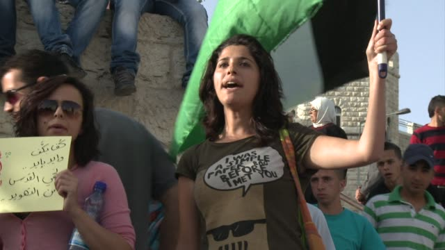 palestinians on wednesday marked the 46th anniversary of the 1967 six day war with israel known in arabic as the naksa or setback clean palestinians... - six day war stock videos and b-roll footage