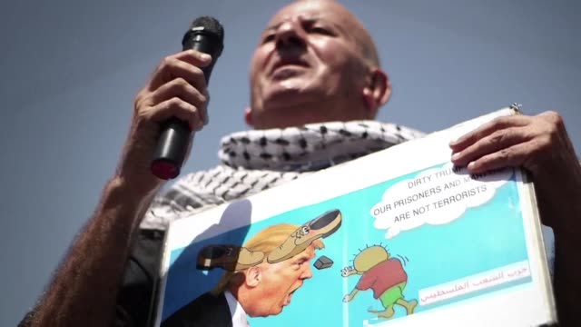 Palestinians protested Thursday in Ramallah as White House aide Jared Kushner held talks on the Israeli Palestinian conflict with the aim of...