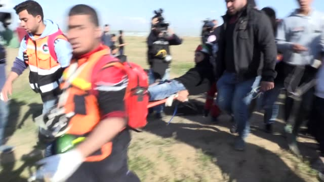 palestinians take part in ongoing rallies against israel's decades-long occupation along the gaza-israel buffer zone on april 19, 2019. at least 20... - historical palestine stock videos & royalty-free footage