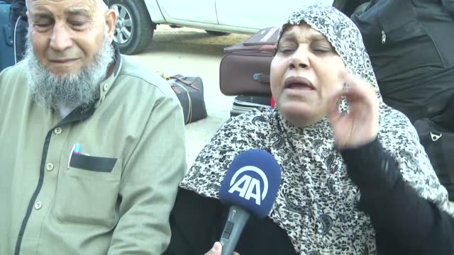 palestinians wait at the rafah border crossing with egypt in the southern gaza strip after it was opened for two days by egyptian authorities on may... - sea passage stock videos and b-roll footage