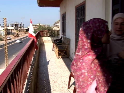 palestinians who fled the recent fighting at the refugee camp at nahr albared in lebanon have begun to return but not everyone is glad to see them... - lebanon country stock videos & royalty-free footage