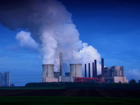 pal:industry in twilight - carbon monoxide stock videos & royalty-free footage