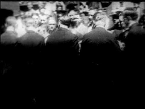pallbearers placing rudolph valentino's coffin into hearse / nyc / newsreel - 1926 stock videos & royalty-free footage