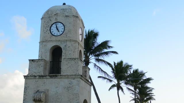 Palm Beach Florida Worth Avenue famous clock tower on the beach