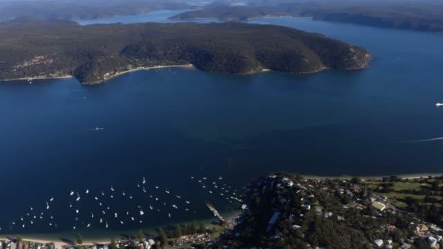 palm beach sydney aerial - steve munro stock videos & royalty-free footage