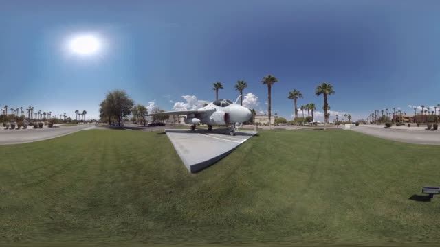 palm springs air museum jet display - monoscopic image stock videos & royalty-free footage