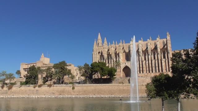 palma cathedral - palma stock videos & royalty-free footage