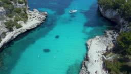 Palma de Mallorca, Spain, Mediterranean Sea and a yacht, dream holiday