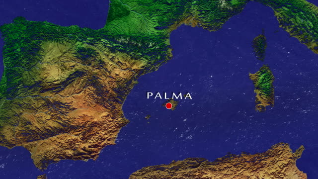 palma zoom in - balearic islands stock videos and b-roll footage