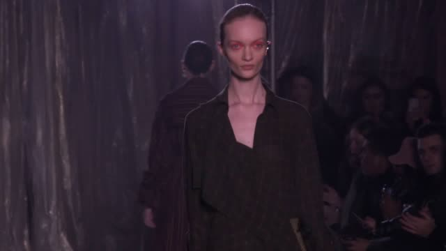 palmer harding showcase their autumn/winter collection at london fashion week 2018 - london fashion week stock videos and b-roll footage